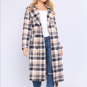 Brand anew Plaid Trench Coat!